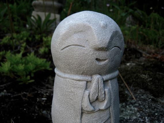 Jizo Statue Buddha Concrete Statues Buddhist Protector Of Etsy
