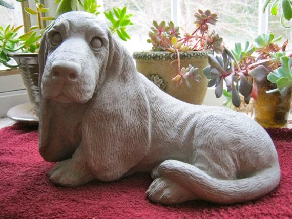 Basset Hound Statue Concrete Dog Statue Cement Garden Decor | Etsy