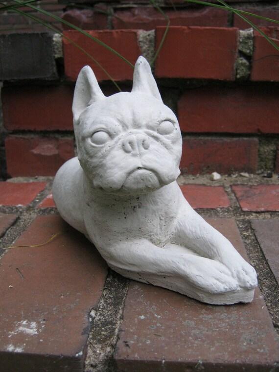 Boston Terrier Statue Terrier Figure Garden Statues Of Dog | Etsy