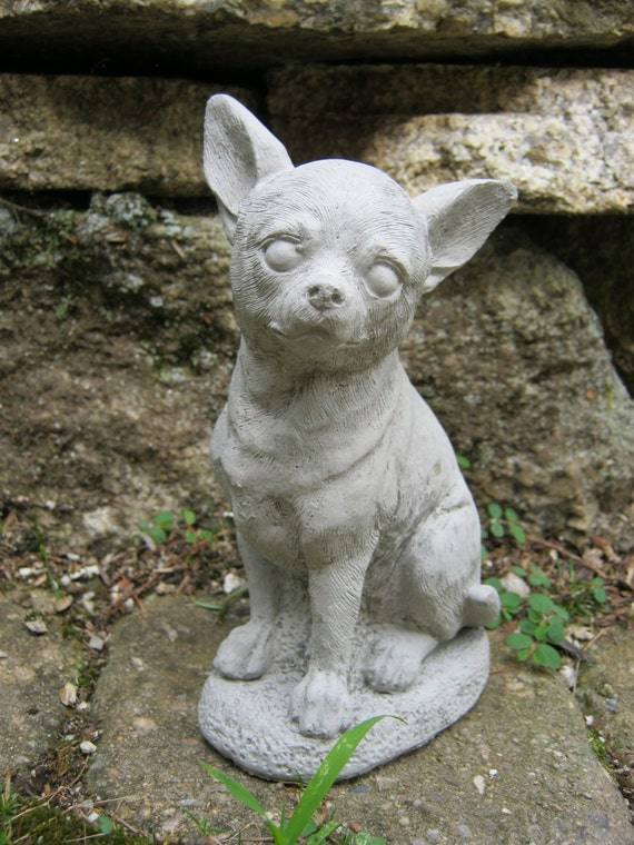 Ordinaire Chihuahua Statue Concrete Chihuahua Statues Cement Dog   Etsy