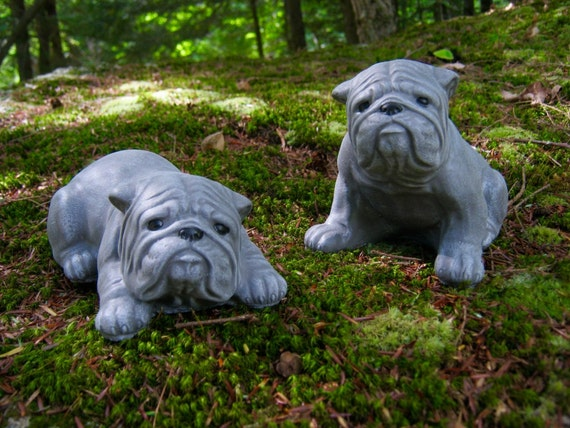 Bulldog Statues Bulldog Garden Decor English Bulldog | Etsy