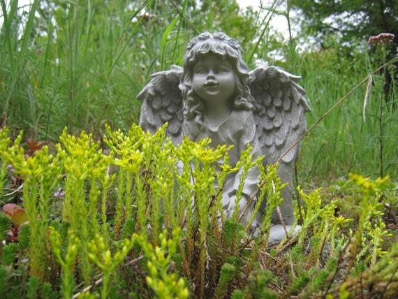 Beau Angel Statue Angel Girl Concrete Garden Statue Concrete | Etsy