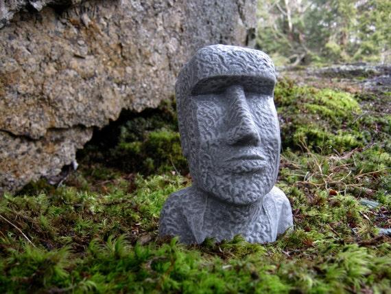 Beau Easter Island Head Moai Head Concrete Heads Garden Decor | Etsy