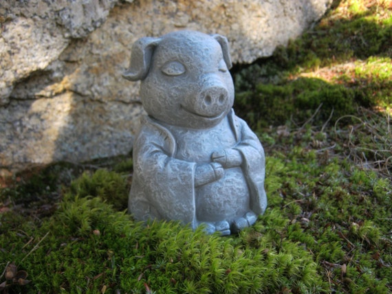 Charmant Pig Statue Meditating Buddha Pigs Zen Animals Pig Figures | Etsy