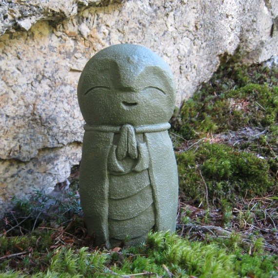 Jizo Statue Buddhist Protector Of Children Buddha Concrete | Etsy