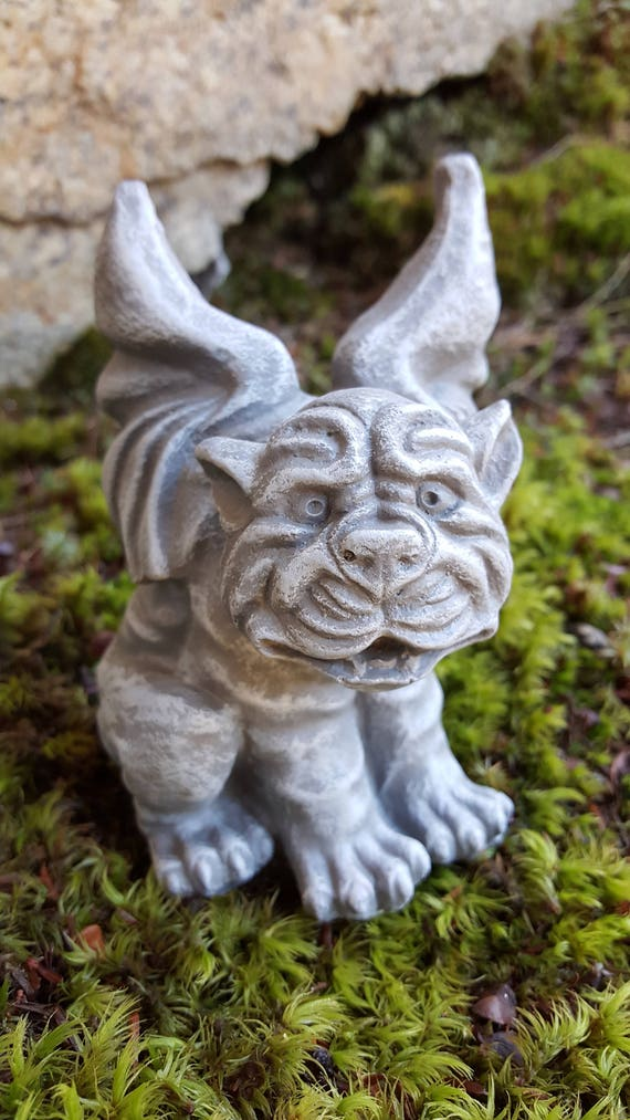 Gargoyle Garden Decor Dog Gargoyle Garden Statue Winged | Etsy