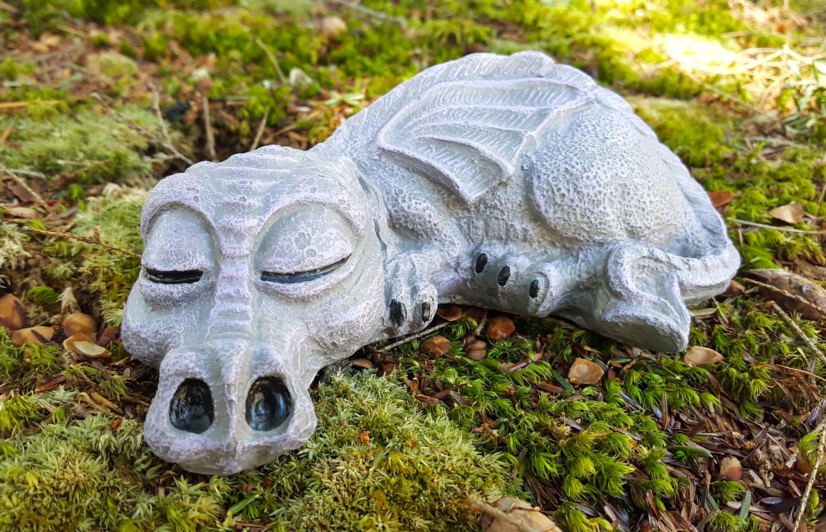 Dragon Statue Concrete Garden Statue Fantasy Garden Art Etsy