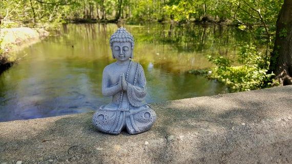 Buddha Statue Buddha Garden Decor Calming Office Decor Zen | Etsy