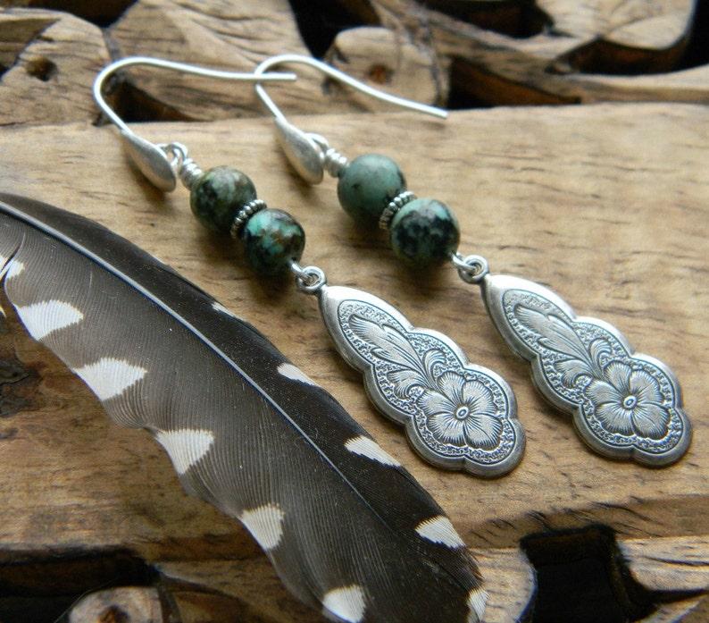 Bohemian earrings turquoise jewelry southwestern style jewelry image 0