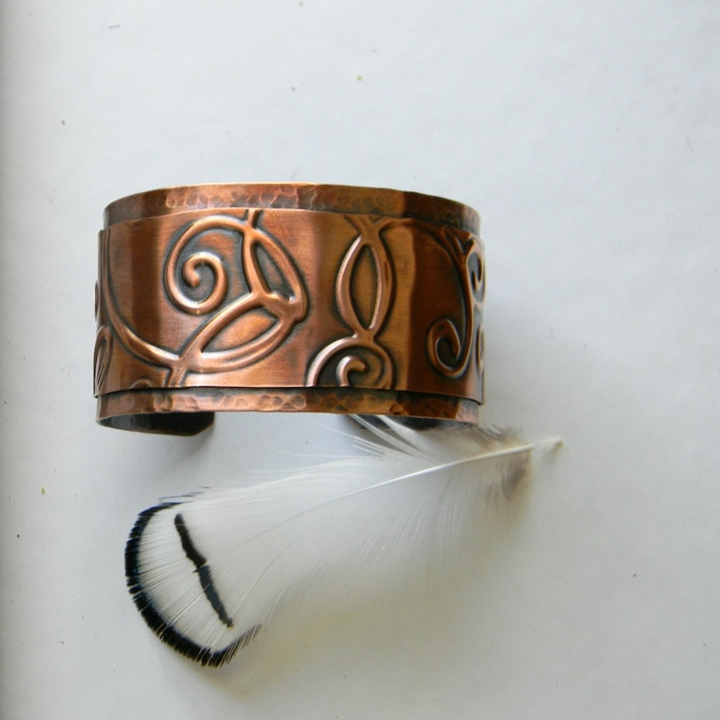 Copper cuff bracelet handmade hammered copper bracelet image 0