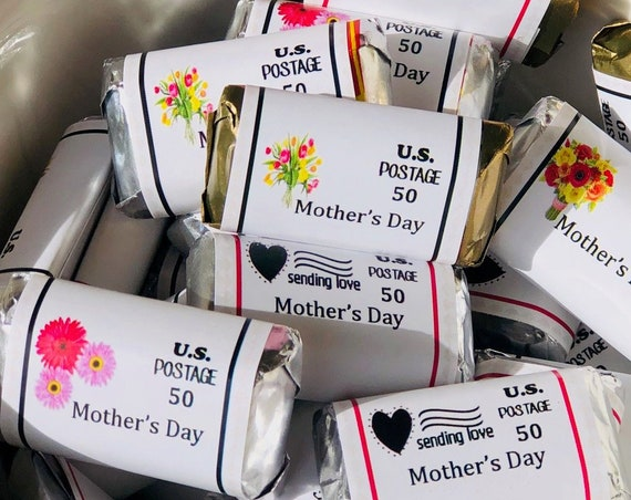 Mothers Day favors, Mothers Day candy bar wrappers, Mini candy wrappers, Mothers Day. Set of 50.