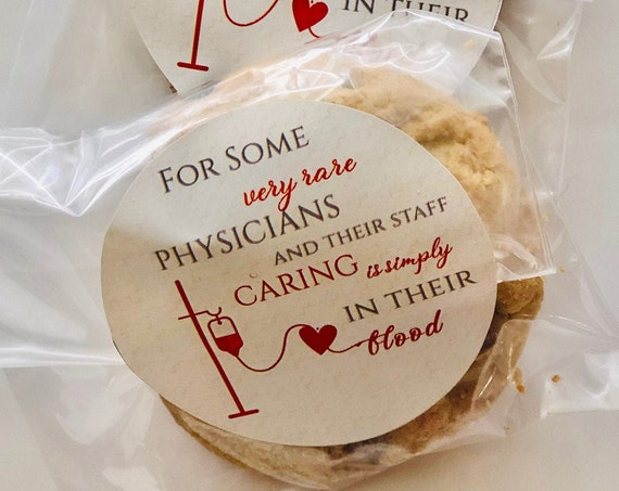 Set of 24. Doctor Appreciation Day Stickers, Physicians  National Week Stickers, Medical Staff Thank you Stickers.