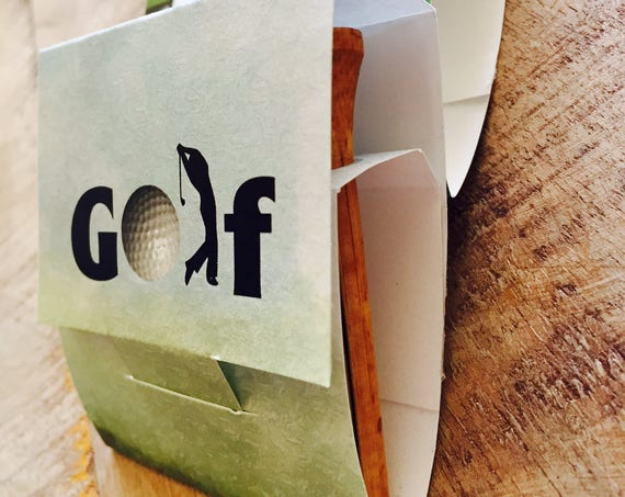 Golf Tee holder Books, Golfers Tee Holder, Golf Lovers Golf tees Books, US Open party favors, golf wedding party favors Groomsman Set of 10.