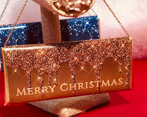 FOUR Colors. Drip Glitter Chocolate Clutch Purses,Christmas Glitter Chocolate Clutch Purses,Glitz Christmas Chocolate Bar Wrapper.Set of 20.