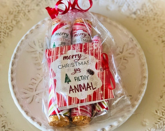 Christmas Chocolate Gift Set Candy Cane Design, Chocolate Christmas Gift Set, Rolos, Ghirardelli and Hershey's Miniatures.Sold in sets of 1.