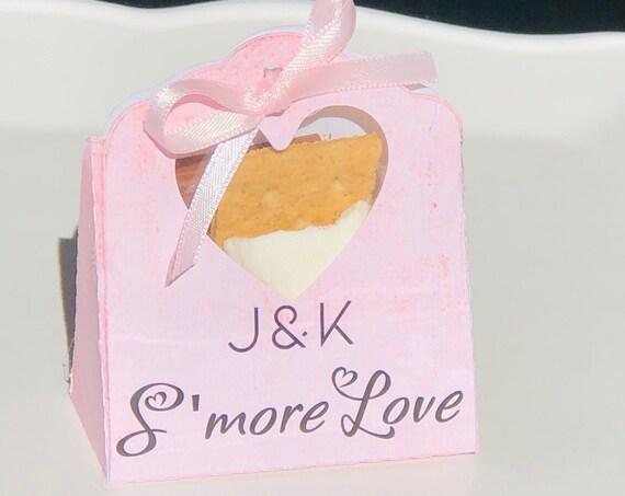 Heart Window Favor Box, Heart Shape Window Favor Box, Valentines' Day Favor Box, Wedding Heart Window Box .Sets of 20