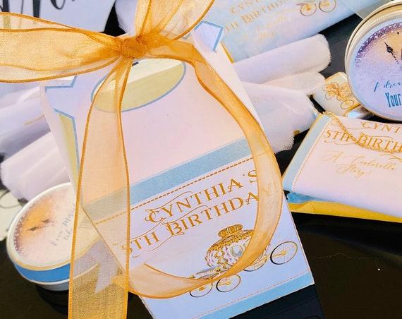 Cinderella Favor Box, Cinderella Party favor boxes, Cinderella Party Theme boxes, Cinderella Tall Gable Box.  Sets of 10.