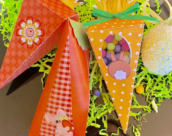 Carrot Box Favors,Easter Carrot Box Favors,Easter Box Favors, Carrot Box,Easter Favors,Peter Cottontail Favor Box.Listing Price is for 1 box