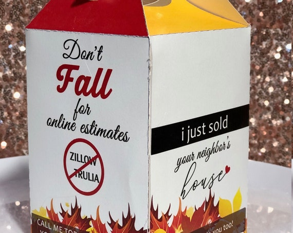 Fall Business Marketing Boxes,Real Estate Marketing Boxes,Real Estate Candy Boxes,Corporate Marketing Box.Branding Boxes. Sets of 10.