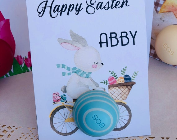 Easter EOS Card, Easter EOS Lip Balm Card, EOS Lip Balm Easter Card, Lip Balm Easter Card, Lip Balm Holder Card. Set of 5 cards per order.