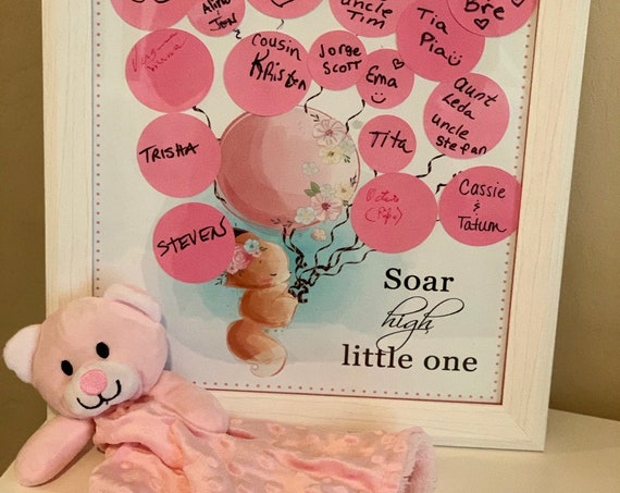 Baby Shower Sign In Poster, Soar High Little One Sign In, Sign In Baby Shower Poster, Baby Shower Guest Sign In, Guest Book Alternative.