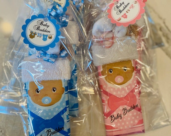 African American  Beanie Baby Candy Bar Wrappers, Gender Reveal, Baby Girl & Boy Favors, Baby Boy and girl announcement Set of 20