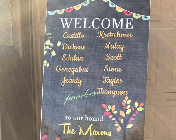 Welcome Poster, Welcome to Party Poster, Party banner, Thanksgiving Poster, Thanksgiving Welcome Sign.