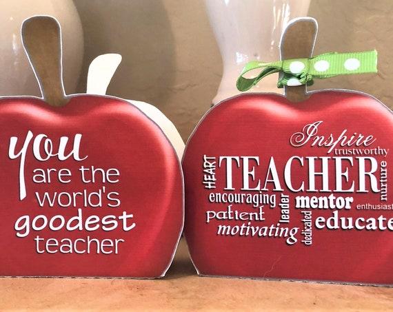 Apple Favor Box, Back to School Favor box,  Best Teacher Favor Box, Teacher Gifts, Back to School Teacher Gift. Set of 10