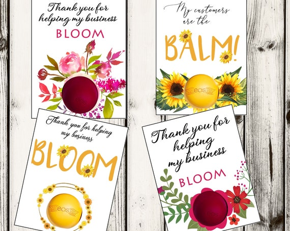 Customers are the Balm EOS Card, Client Appreciation EOS Lip Balm Card,  Business Appreciation Gift, Set of 1 per order.