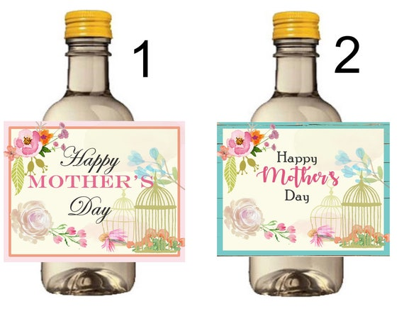 Mother's Day Mini Wine Bottle Labels, Mother's Day Gifts, Mother's Day wine bottle labels, Mother's Day Brunch, Set of 9