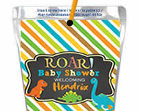 Dinosaur Capri Sun Labels, Capri Sun Pouch Juice Labels, Kool Aid Jammers labels, Juice Pouch Labels,Dinosaur juice Labels. Set of 12.