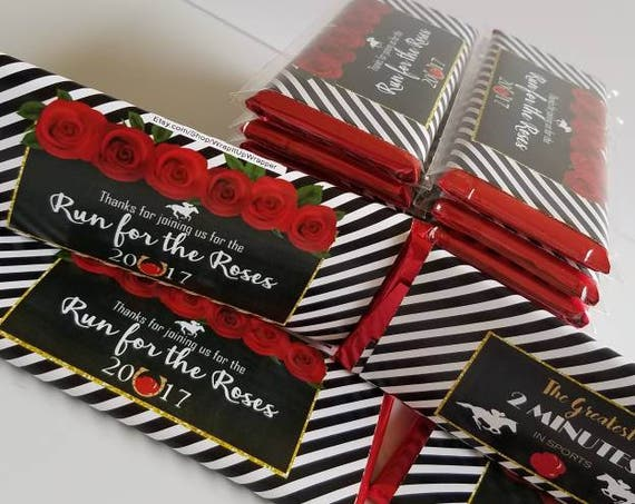 WRAPPERS ONLY. Kentucky Derby Candy Bar Wrapper, Kentucky Derby 2019, Kentucky Derby party favors. Set of 20.
