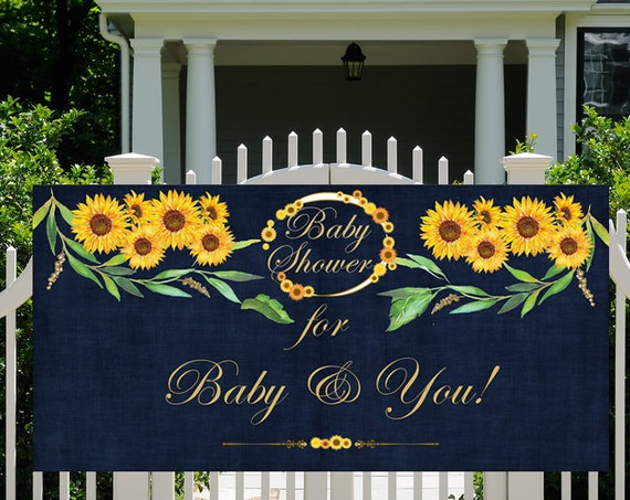 Sunflower Party Banner, Sunflower Party Theme Poster, Sunshine Bridal Shower, Sunshine Cutie Sunflower Banner.