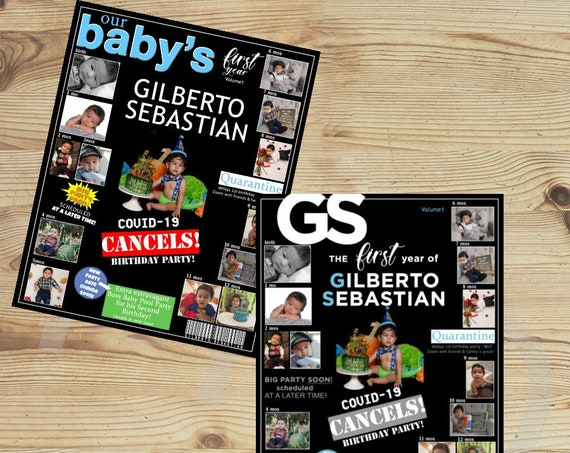 Baby's First Magazine Cover, Our Baby's Magazine Cover, Baby's First Birthday Magazine Cover. Price for 1.