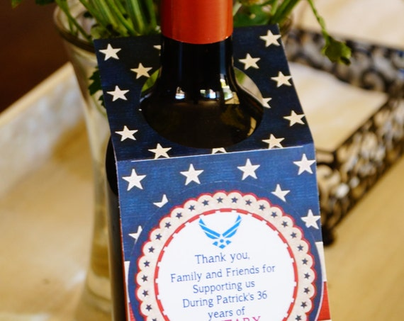 4th of July Wine bottle tags, July 4th wine tags, Patriotic wine tags, Americana Wine Tag . Set of 10. Red white and blue American flag