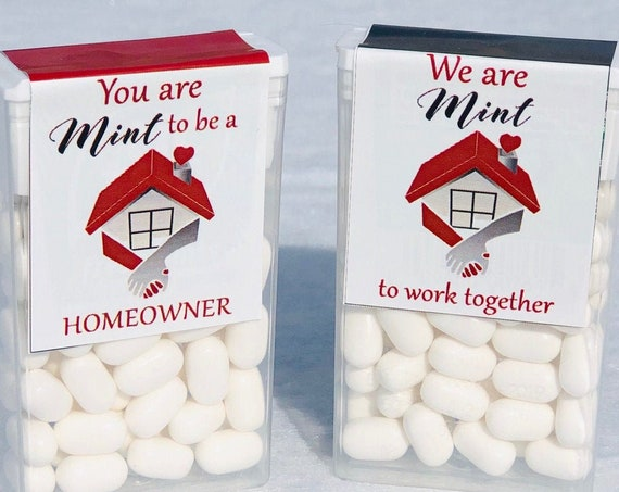 Business marketing Tic Tacs, Real Estate Tic Tacs, You are MINT to be a Homeowner, We are MINT to Work Together.  Set of 20.