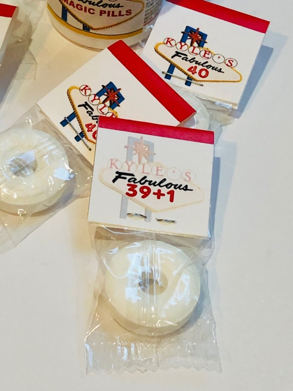 Las Vegas theme Single Pack Mints, Las Vegas Birthday Mints, Vegas Birthday Party Favors, Las Vegas party favors.