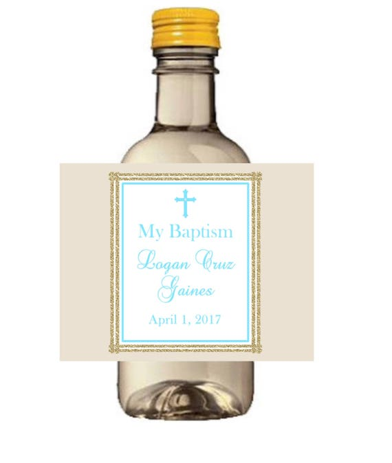 Mini Wine Bottle labels,Cream and Pink Baptism Wine labels, mi Bautizo 1st first holy communion christening party favors,Boys girls Set of 9