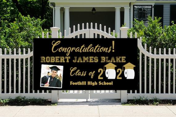FAST TURNAROUND. Graduation 2020 Banner, Class of 2020 Yard Banner, Graduation Yard Banner 2020, Congratulations Graduation Banner.