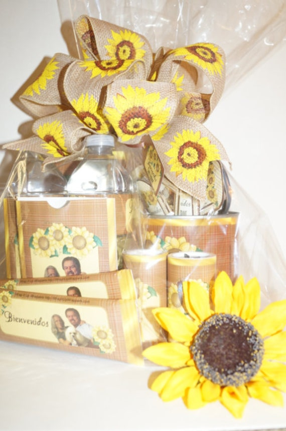 Get Well Gift Set, Sunflower Gift Set, Sunflower Thank you Gift Set,  Nurses Week 2020 Thank you. Get Well Gift Set of 23 items.