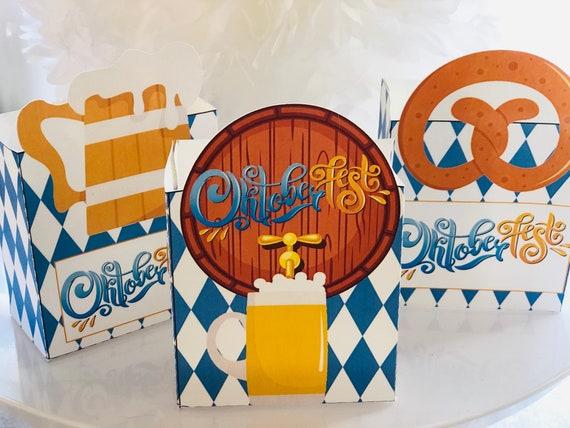 Oktoberfest Favor Boxes, Oktoerfest Treat Box, Oktoberfest Party favor box, Oktoberfest Party Theme Boxes, Set of 10