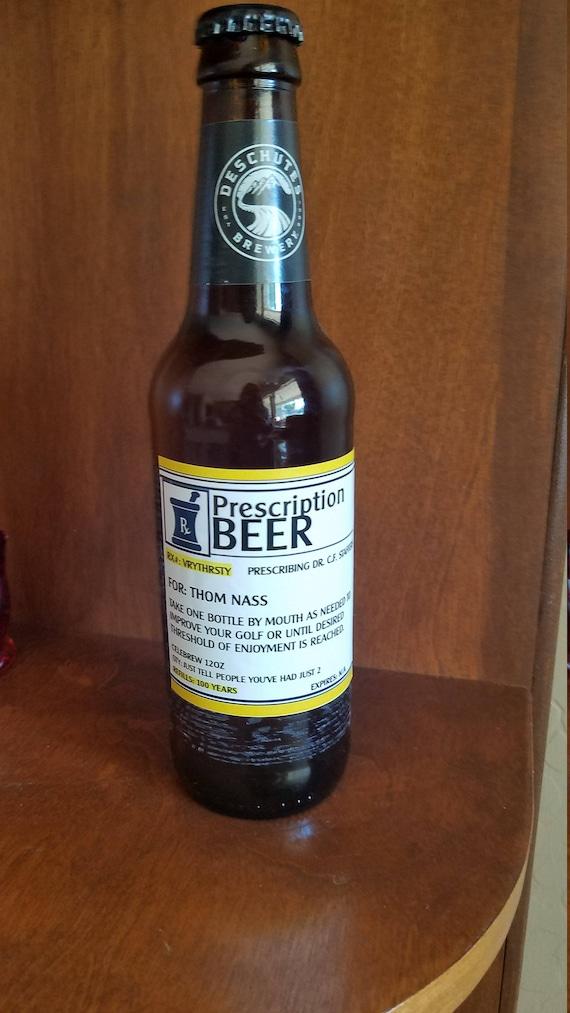 Beer Bottle Labels, Retirement Beer labels, Prescription Beer Gift, Birthday Beer Labels,Fun Beer labels,Prescription Beer Labels. Set of 12