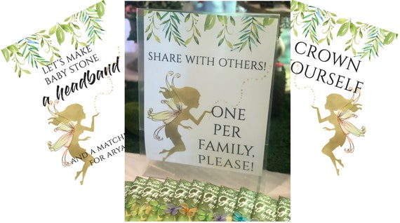 Fairy Party Table Signs, Enchanted Fairy Party Table Signs, Fairy Garden Party Signs, Enchanted Garden Party Signs.