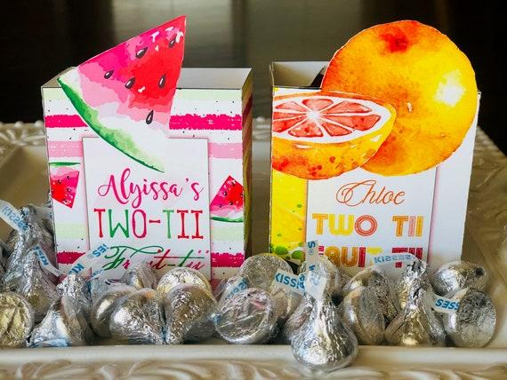 Two-tii Fruit-tii Treat Box,Two-tti Fruity party,Tuitti Fruitti Party Favor Box,Twotti Fruitti Favor Box,Two-tti Fruittii Theme.Set of 10