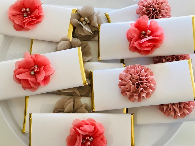 Wedding Candy Bar.Coral And Gold Wedding Candy Bar Wrappers Coral And White Wedding Favors Wedding Favors Elegant Coral And White Wedding Favors Set Of 20