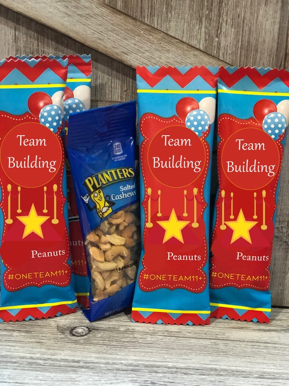Team Building Snacks, Team Building Business Branding Snacks, Corporate Snacks, Business Marketing Snacks, All Star Team Building. Set of 20