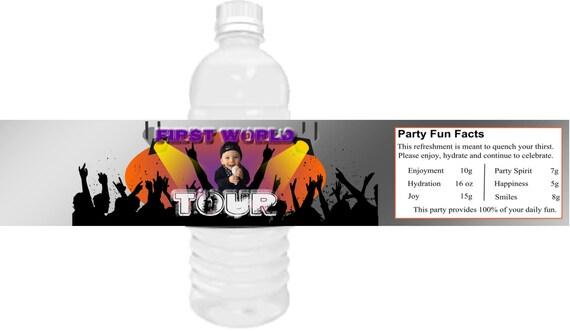 Rock n Roll water bottle labels, Rockn Roll party, Rock n Roll party theme, Guitar party theme,