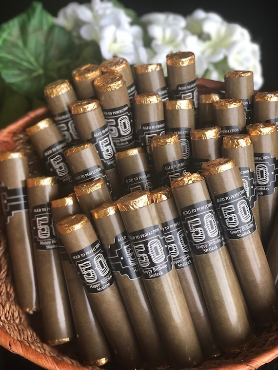 Chocolate cigar wedding favors marble cigarette ashtrays