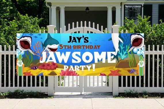 FAST TURNAROUND. Shark Week 2020, Shark Week Party Banner, Shark Week Birthday Party Banner, Jawsome Party Banner