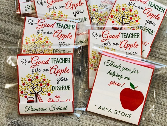 Teacher Appreciation Day Gift, Teacher Appreciation Nail File Books, Back to School Teacher Gift.  Set of 5 per order